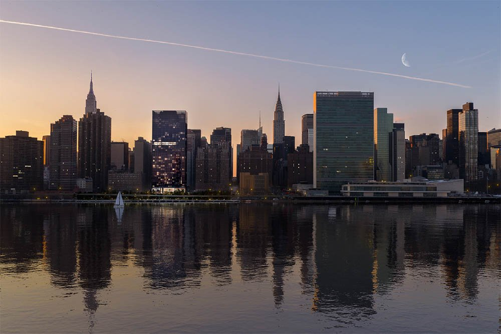 Situated in the East River skyline